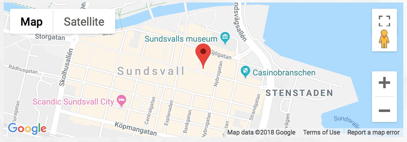 Kontorshotell Sundsvall karta