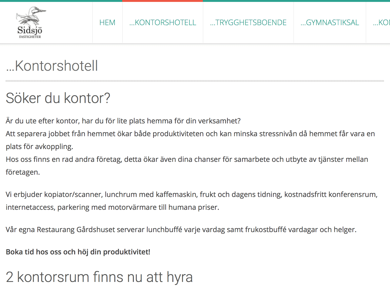Kontorshotell Sundsvall